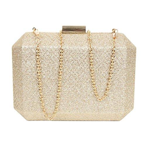 Hautefordiva gold grau Damen Clutch S rPwIrxqC
