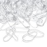 ZUNTO haargummi transparent Haken Selbstklebend Bad und Küche Handtuchhalter Kleiderhaken Ohne Bohren 4 Stück