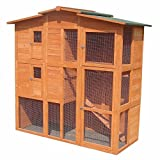 XXL Hühnerstall Freilaufgehege Freigehege Holz Hasen Stall Kaninchenstall - 2