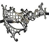 Bluestercool Venetian Strass halbes Gesichts-Augen-Schablone für Maskerade-Party