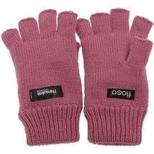 FLOSO® Ladies/Womens Thinsulate Thermal Fingerless Winter Gloves (3M 40g)