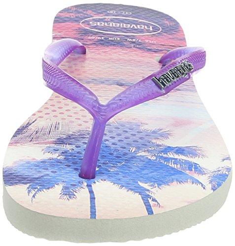 Havaianas Infradito Donna Slim Paisage Viola (White/Purple 2650)