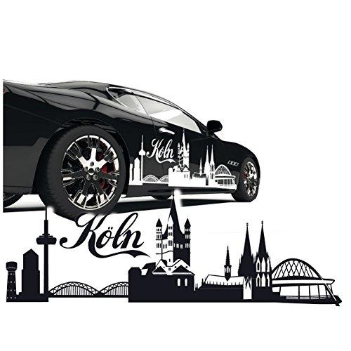 Silhouette Köln Kölner Dom Skyline Aut Aufkleber Sticker Stadt Motive zum Verkleben  SKD020