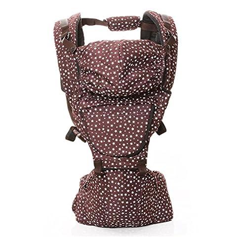 Baby Carrier 3D Breathable Hip Sitzträger Ergonomisches Design Variety Carry Ways mit abnehmbarem Sitz Tragbarer Multifunktions-Rucksackträger