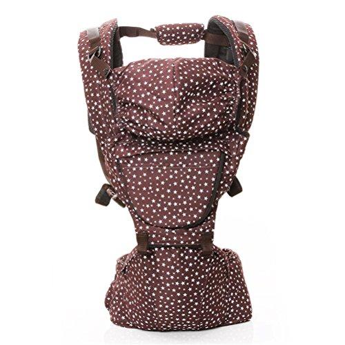Baby Carrier 3D Breathable Hip Sitzträger Ergonomisches Design Variety Carry Ways mit abnehmbarem Sitz Tragbarer Multifunktions-Rucksackträger (Wrap Ergobaby Carrier Baby)