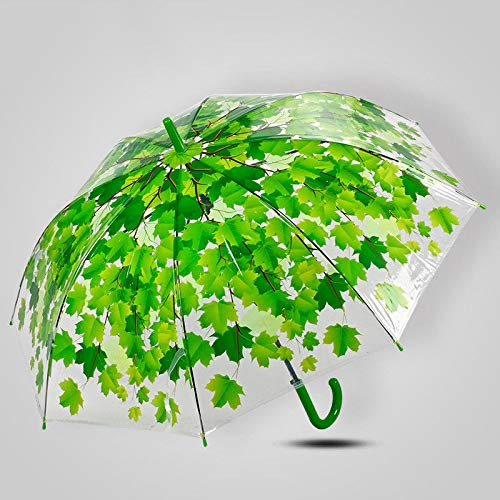 Winddichter Regenschirm Teflonbeschichtung Kompakter Regenschirm Reiseregenschirm UV-Schutzschirm Mini-Regenschirm Straight shank thickening couple men and women arched umbrella green arch -
