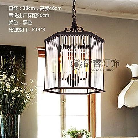 Lbcvh Nordic-stile retrò semplice e personalità creative bar ristorante illuminazione industriale di ferro lampadario loft,B lampadari di cristallo colonna della casella