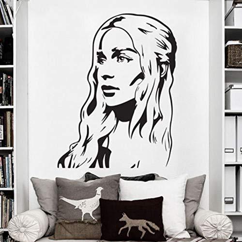 58x75 cm Pared de Vinilo calcomanías del Arte de la Etiqueta engomada del Juego de Tronos Daenerys Targaryen Khaleesi Etiqueta de la Pared Arte Home Mural A-96