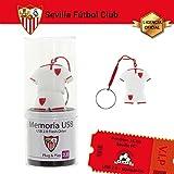 Memoria USB 2.0 Flash Drive de 16GB Sevilla F.C. USB 2.0, Pendrive Liciencia Oficial.