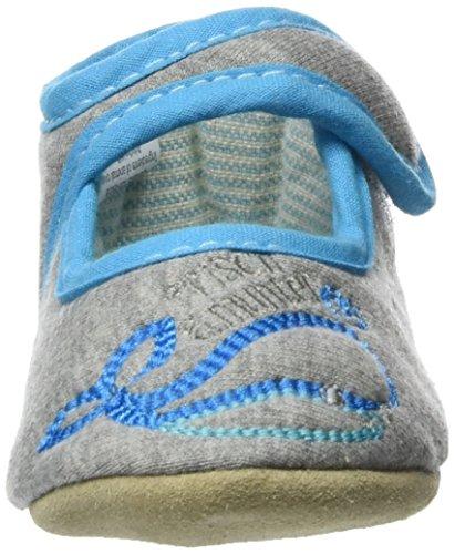 Adelheid - Frisch Und Munter Babyschuh, Pantofole Unisex – Bimbi 0-24 Grau (Mausgrau)