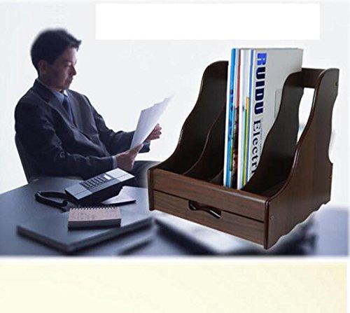 HETAO Holz Datei Rahmen Datei Rahmen kreativ Desktop-Speicher Information Frame vier Raster Datei bar 30 * 28.5 * 31CMEinfach und stilvoll