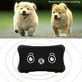 Gugutogo Wasserdichtes Mini-GPS-Verfolger-Realzeitlokalisierungs-Hundehalsband, Das G/M GPRS aufspürt (Farbe: Schwarzes)
