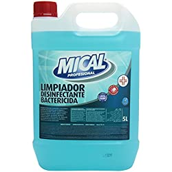 Mical Profesional Limpiador Desinfectante Bactericida, Eficaz en Todas las Superficies - 5 l