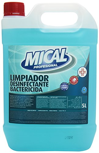 Mical Profesional Limpiador Desinfectante Bactericida, Eficaz en Todas las Superficies - 5...