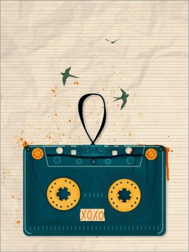 Posterlounge ALU Dibond 100 x 130 cm: Music Will Set You Free de Sybille Sterk