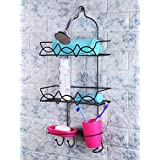 Zahab Bathroom Shower Caddy with Tumbler Glass and Soap Dish Rust Resistant