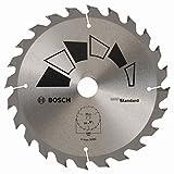 Bosch 2609256B55 Standard Lame de scie circulaire 24 dents carbure Diamètre 165 mm alésage/alésage avec bague de réduction 20/16 Largeur de coupe 1,6 mm