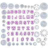 Faburo 77tlg Fondant Ausstecher,44 Buchstaben Ausstechformen Alphabet Zahlen und 33 tlg...