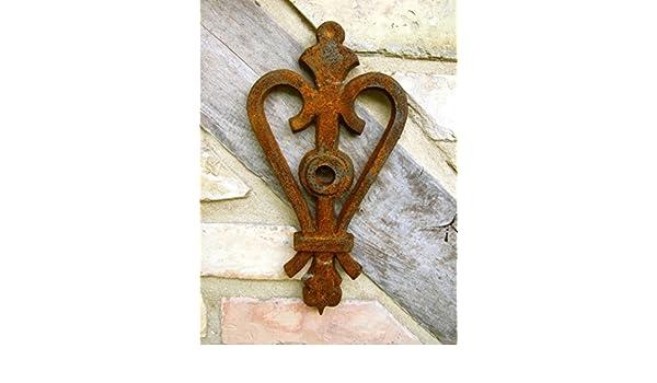 Maueranker Wandanker für Sparren Pfettenanker Wand Ornament Herzkrone wie antik
