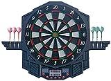 WWSZ- Elektronische Dartscheibe Dartboard Dartpfeile LED, 27 Spielen und 216 Varianten für 8 Spieler