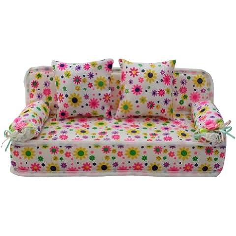 1 x Práctico Sofá Barbie con 2 cojines Mueble para Decorar Casa Hogar Sala Nuevo