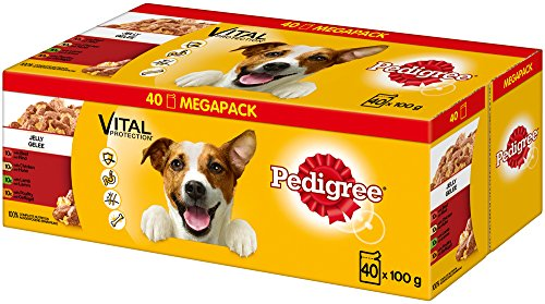 Pedigree Vital Protection Hundenassfutter, im Beutel, Hundefutter in Gelee in verschiedenen Sorten, Im Multipack