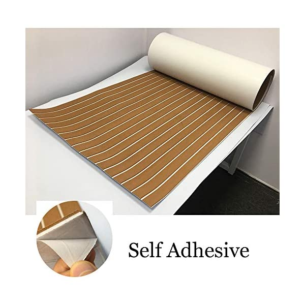 yuanjiasheng 90×240cm EVA Synthetic Boat Decking Sheet Yacht Marine Flooring Anti Slip Carpet With Backing Adhesive,Bevel Edge 4