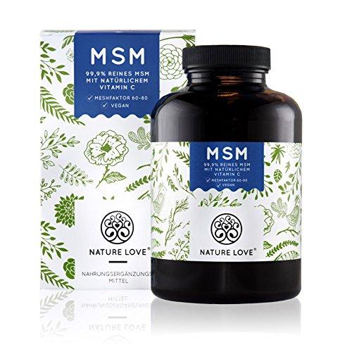 Der VERGLEICHSSIEGER 2017/2018*: MSM Kapseln - 365 Kapseln (6 Monate). Laborgeprüft. 1400 mg MSM (Methylsulphonylmethan) Pulver mit natürlichem Vitamin C. Laborgeprüft, ohne Zusätze. Hochdosiert, vegan, hergestellt in Deutschland