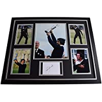 Sportagraphs Seve Ballesteros SIGNED Framed Photo Autograph Huge display Golf Sport COA PERFECT GIFT