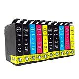 10x caidi con nuevo Chip actualizado Epson 29XL Cartuchos de tinta compatible con Epson Expression Home XP-332XP-335XP-235XP-432XP-435xp-245xp-247xp-342xp-345xp-442xp-445XP-330XP-430(4negro, 2cyan, 2magenta, 2amarillo)