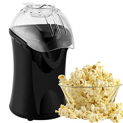 Imposes Popcorn Maker Popcornmaschine Popcornautomat Popcornzubereiter 1200W Heißluft Weites-Kaliber-Design mit Messbecher und abnehmbarem Deckel zu Hause