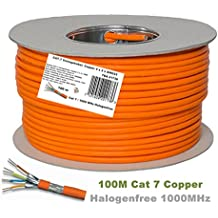 100m Reel Cat 7 Cavo Ethernet, Halogen Free 1000 MHz