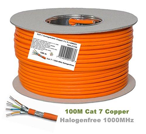 Cable de conexión Ethernet con conectores dorados, Cat 7, S/FTP, PiMF, sin...