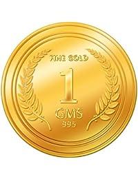 A Himanshu  1 grams 24k (995) Yellow Gold Precious Coin