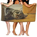 Walnut Cake Strandtücher Handtücher Bath Towel Soft Big Beach Towel 31'x 51' Unique Soft Cat Kitten Kitty Pet Pattern Design