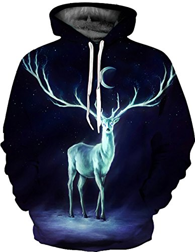 KamiraCoco Herren Pullover Slim Fit Kapuzenpullover 3D Druck Hoodie Weihnachten Langram Sweatshirt Kapuzenjacke