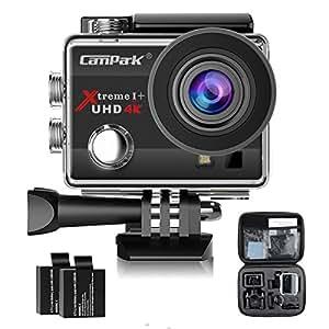Campark 4K Action Cam WIFI Sport Action Camera Full HD 16MP 170° Grandangolare 2.0 Pollici (Custodia Professionale + Batteria di Ricambio)