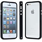 Black Bumper Rim Case Cover For I Phone 4/4G/4S With Metal Buttons By Connect Zone®