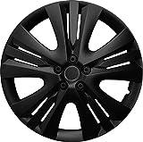 14 Zoll Radzierblenden LEXIS BLACK (Schwarz). Radkappen passend für fast alle OPEL wie z.B. Corsa D