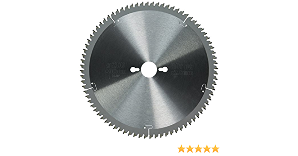 Hoja para sierra circular estacionaria 260x30mm 80D TCG 5/º DEWALT DT4280-QZ
