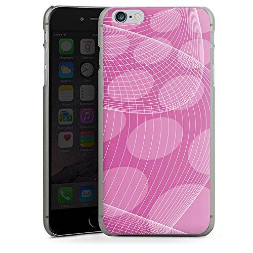 Apple iPhone X Silikon Hülle Case Schutzhülle Pink Muster Punkte Hard Case anthrazit-klar