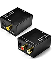 Storin Digital to Analog (L/R) Stereo Audio Converter (Converts Coaxial or Toslink Digital Audio Signal to Analog L/R Audio) - Includes AC Power Cable