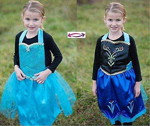 Kristall Queen wendbar Charakter Schürze Kostüm für Kinder