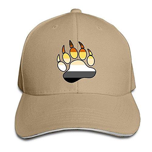 fboylovefor Gay Bear Pride Paw Unisex Baseball Cap Print Snapback Caps Hip Hop Dad Hat