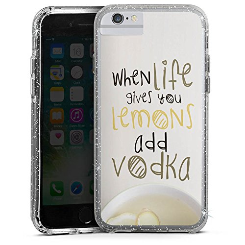 Apple iPhone 7 Plus Bumper Hülle Bumper Case Glitzer Hülle Statement Phrases Sayings Bumper Case Glitzer silber