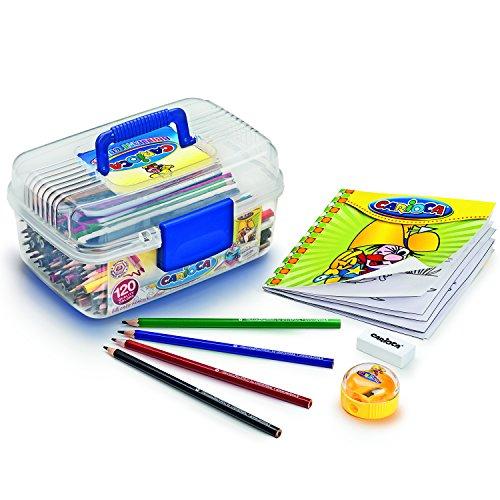 Carioca 42442 - valigetta 120 matite colorate, formato didattica/scuola