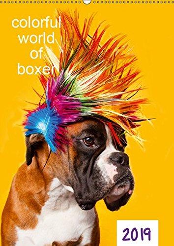 colorful world of boxer 2019 (Wandkalender 2019 DIN A2 hoch): Jahreskalender 2015 Boxer (Planer, 14 Seiten ) (CALVENDO Tiere)