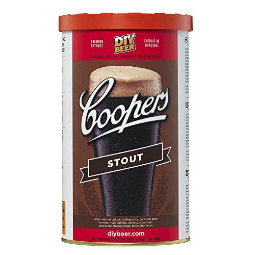 COOPERS Stout 40 Gläser 1.7kg Selbst Gebrautes Bier Set -