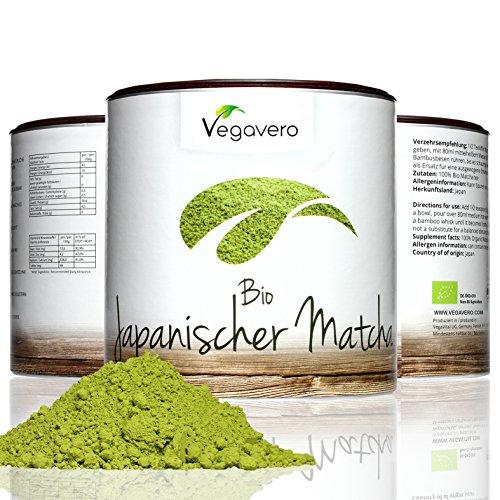 Bio Matcha Green Tea Powder | 100g Premium Quality Matcha Tea Powder | 100% Organic Matcha sourced from Japan | Use for Tea, Cooking, Baking and Smoothie Making! | 100% VEGAN & ORGANIC by Vegavero Test