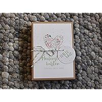 Meilensteinkarten für Mädchen Flower Heart